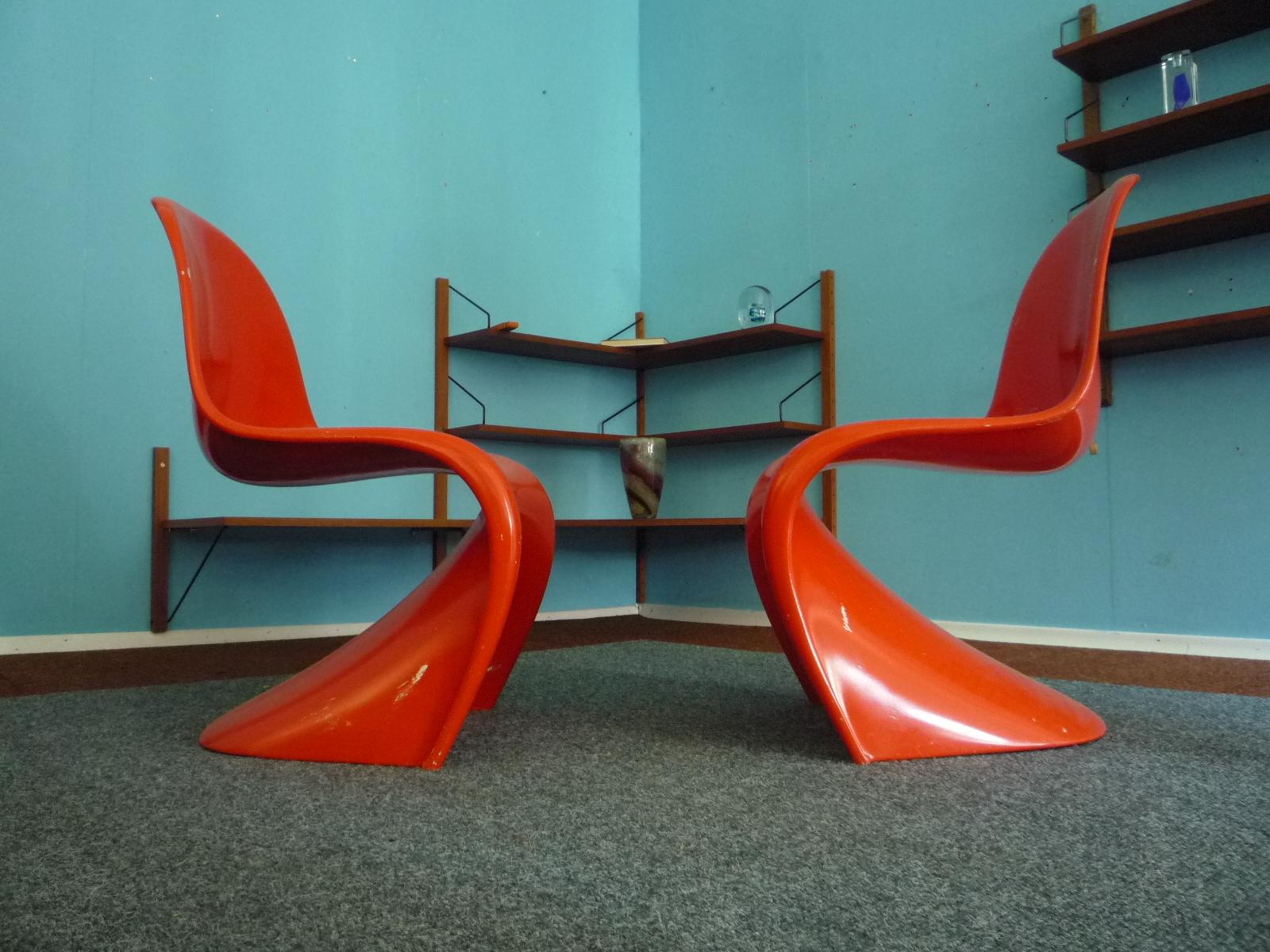 Chairs verner panton 60s clickwerk aronge for Panton chair imitat