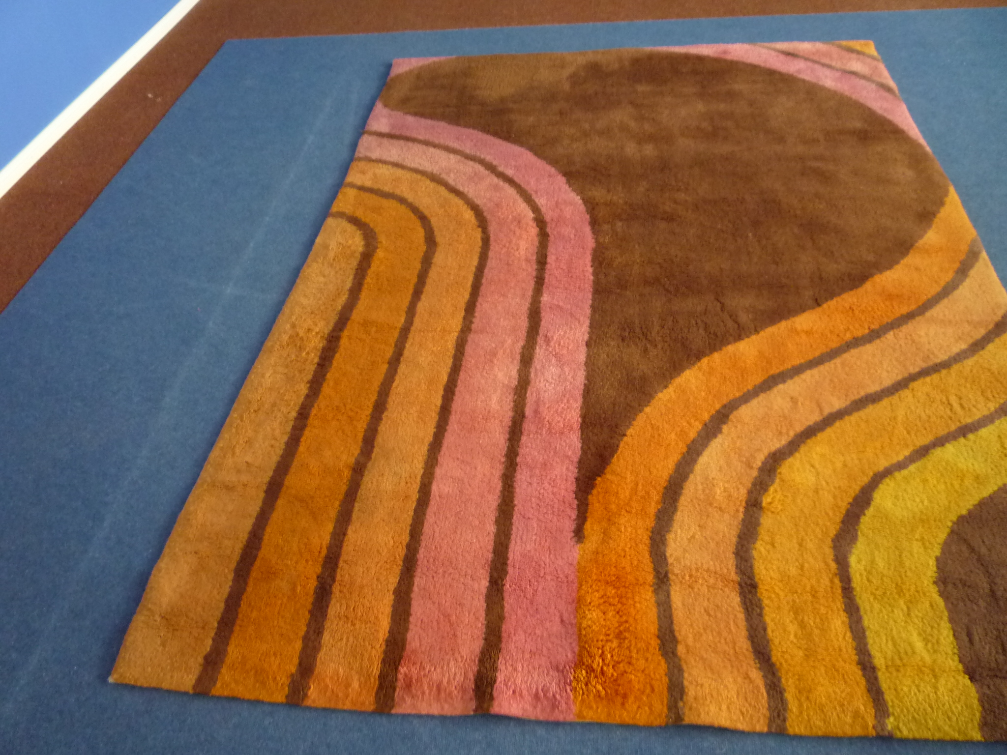 Design Carpet Rug Cotton Hand Knotted 60s Clickwerk Aronge